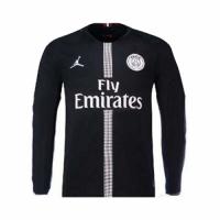 18-19 PSG JORDAN 3rd Away Black Long Sleeve Soccer Jersey Shirt