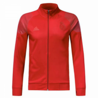 18-19 Real Madrid Red High Neck Collar Training Jacket