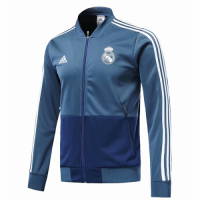 18-19 Real Madrid Blue V-Neck Training Jacket