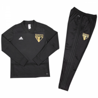 Kids 18-19 Sao Paulo Black Sweat Shirt Kit(Top+Trouser)
