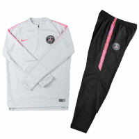 Kids 18-19 PSG White Sweat Shirt Kit(Top+Trouser)