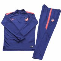 Kids 18-19 Atletico Madrid Blue Sweat Shirt Kit(Top+Trouser)