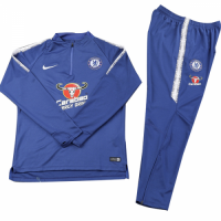 Kids 18-19 Chelsea Zipper Sweat Shirt Kit(Top+Trouser)