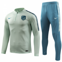 18-19 Atletico Madrid Green Sweat Shirt Kit(Top+Trouser)