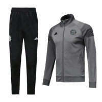 18-19 Bayern Munich Gray Training Kit(Jacket+Trouser)