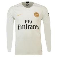 18-19 PSG Away White Long Sleeve Soccer Jersey Shirt