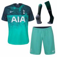 18-19 Tottenham Hotspur Third Away Green Jersey Whole Kit(Shirt+Short+Socks)