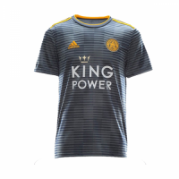 18-19 Leicester City Away Gray Soccer Jersey Shirt
