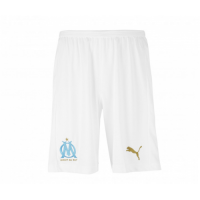 18-19 Marseilles Home White Soccer Jersey Short