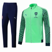 18-19 Arsenal Green&Navy High Neck Collar Training Kit(Jacket+Trousers)