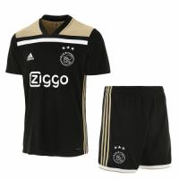 18-19 Ajax Away Black Soccer Jersey Kit(Shirt+Short)
