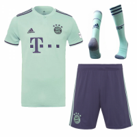 18-19 Bayern Munich Away Soccer Jersey Whole Kit(Shirt+Short+Socks)