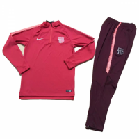 Kids 18-19 Barcelona Pink Sweat Shirt Kit(Top+Trouser)