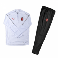 Kids 18-19 AC Milan Sweat Shirt Kit(Top+Trouser)
