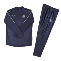 Kids 18-19 Marseilles Navy Sweat Shirt Kit(Top+Trouser)
