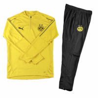 Kids 18-19 Borussia Dortmund Yellow Sweat Shirt Kit(Top+Trouser)