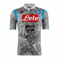 18-19 Napoli Third Away Gray Soccer Jersey Shirt