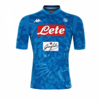 18-19 Napoli Home Blue Soccer Jersey Shirt