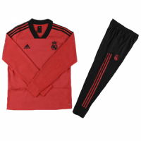Kids 18-19 Real Madrid Red Sweat Shirt Kit(Top+Trouser)