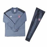 Kids 18-19 Bayern Munich Gray Sweat Shirt Kit(Top+Trouser)