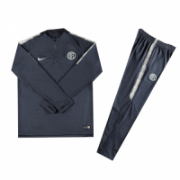 Kids 18-19 Inter Milan Gray Sweat Shirt Kit(Top+Trouser)