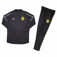 Kids 18-19 Borussia Dortmund Black Sweat Shirt Kit(Top+Trouser)