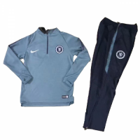 Kids 18-19 Chelsea Gray Sweat Shirt Kit(Top+Trouser)