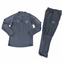 18-19 Arsenal Gray Sweat Shirt Kit(Top+Trouser)