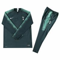 Kids 18-19 Tottenham Hotspur Dark Green Sweat Shirt Kit(Top+Trouser)