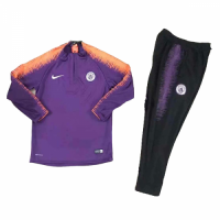 Kids 18-19 Manchester City Purple Sweat Shirt Kit(Top+Trouser)