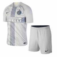 18-19 Inter Milan Third Away Gray Soccer Jersey Kit(Shirt+Short)