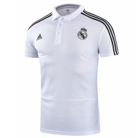 18-19 Real Madrid Core Polo Shirt-White