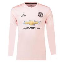 18-19 Manchester United Away Pink Long Sleeve Jersey Shirt