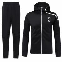 18-19 Juventus Black Hoody Sweat Shirt Kit(Top+Trouser)