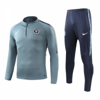 18-19 Chelsea Zipper Gray Sweat Shirt Kit(Top+Trouser)