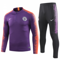 18-19 Manchester City Purple Sweat Shirt Kit(Top+Trouser)