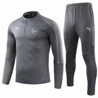 18-19 Arsenal Gray Sweat Shirt Kit(Top+Trouser)