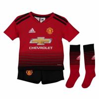18-19 Manchester United Home Children's Jersey Whole Kit(Shirt+Short+Socks)