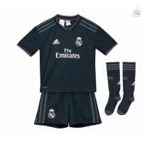 18-19 Real Madrid Away Dark Navy Children's Jersey Whole Kit(Shirt+Short+Socks)