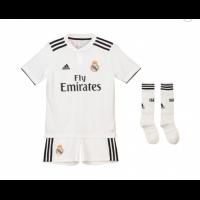 18-19 Real Madrid Home Children's Jersey Whole Kit(Shirt+Short+Socks)