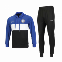 18-19 Chelsea Blue&White Hoody Sweat Shirt Kit(Jacket+Trouser)