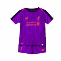 18-19 Liverpool Away Purple Children's Jersey Kit(Shirt+Short)