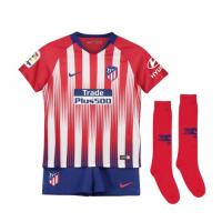 18-19 Atletico Madrid Home Children's Jersey Whole Kit(Shirt+Short+Socks)
