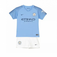 18-19 Manchester City Home Children's Jersey Kit(Shirt+Short)
