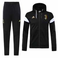 18-19 Juventus Black&Golden Hoody Sweat Shirt Kit(Jacket+Trouser)