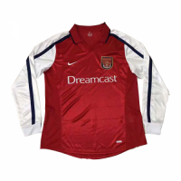 2000 Arsenal Retro Home Red Long Sleeve Jersey Shirt