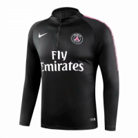 18-19 PSG Black Zipper Sweat Top Shirt