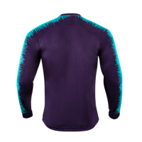 18-19 Barcelona Purple&Blue V-Neck Training Jacket