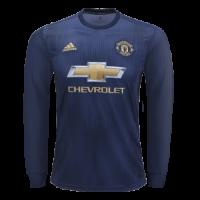 18-19 Manchester United Third Away Navy Long Sleeve Jersey Shirt