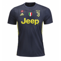 18-19 Juventus Third Away Black Soccer Jersey Shirt(Player Version)